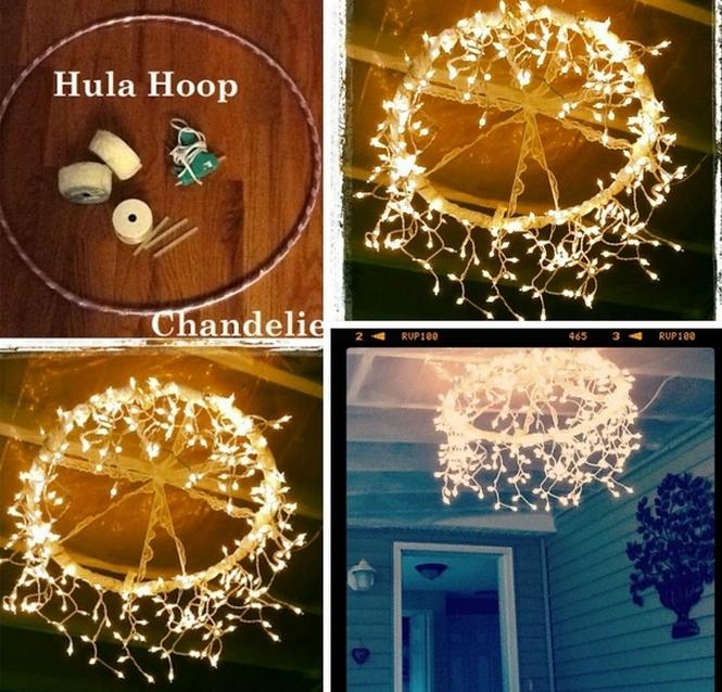Hula Hoop DIY Lighting