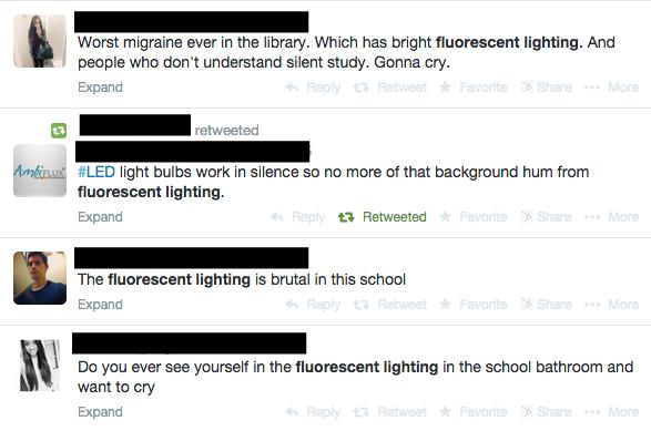 fluorescent lighting tweets