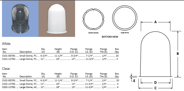 outdoor lighting domes at diffuser specialist .com