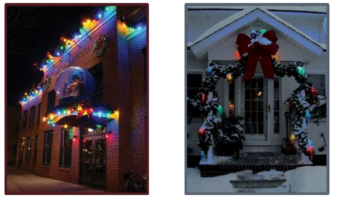 holiday outdoor lighting globes